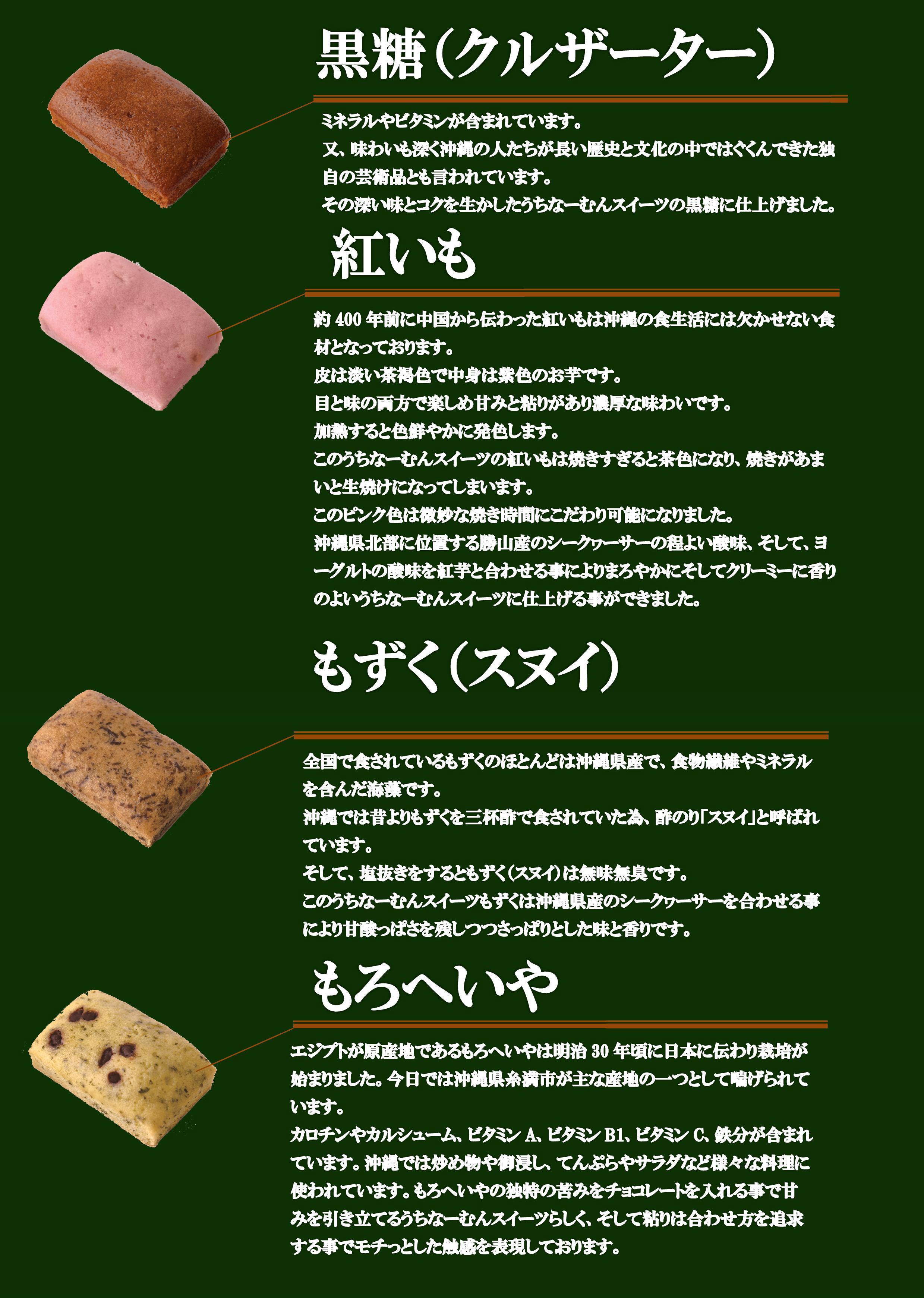 各種うちなーむんケーキ素材紹介_2